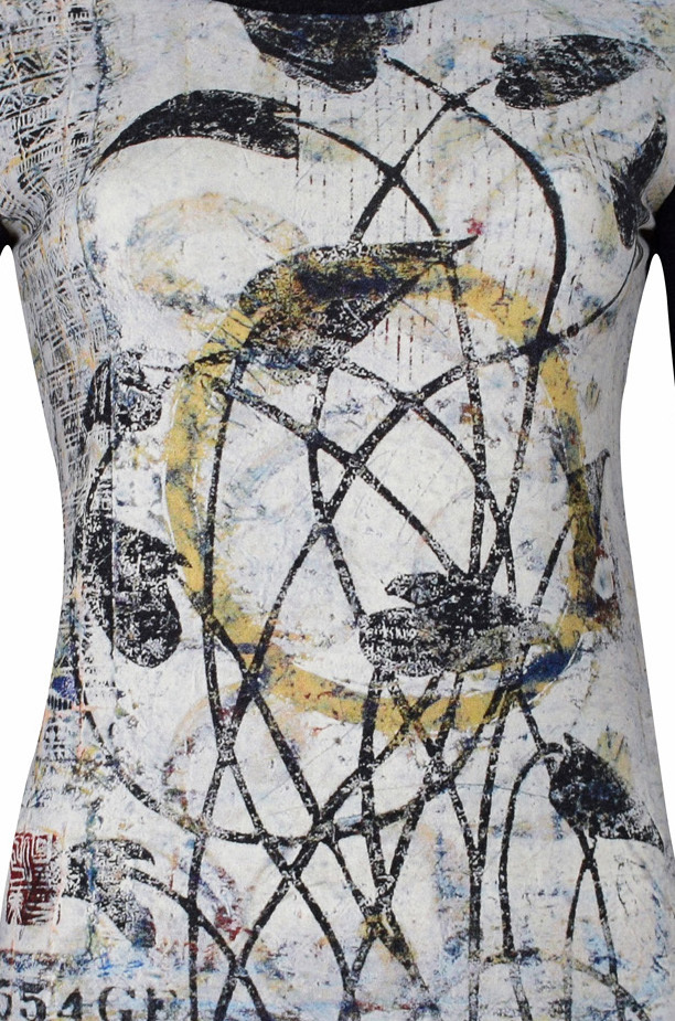 Simply Art Dolcezza: Random Acts Of Petal Beauty Abstract Art Tunic (1 Left!)