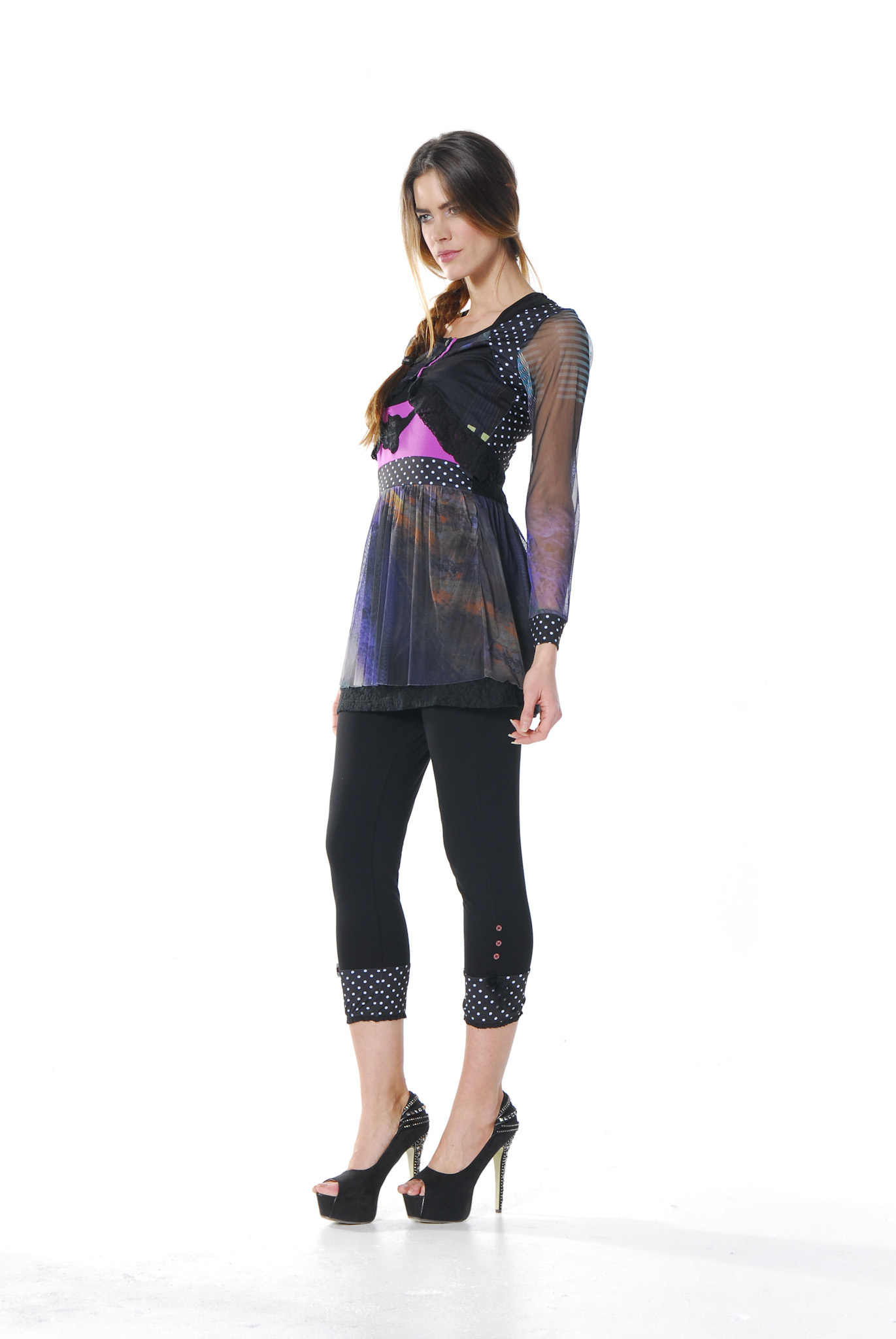 Les Fees Du Vent Couture: Midnight Orchid Tunic