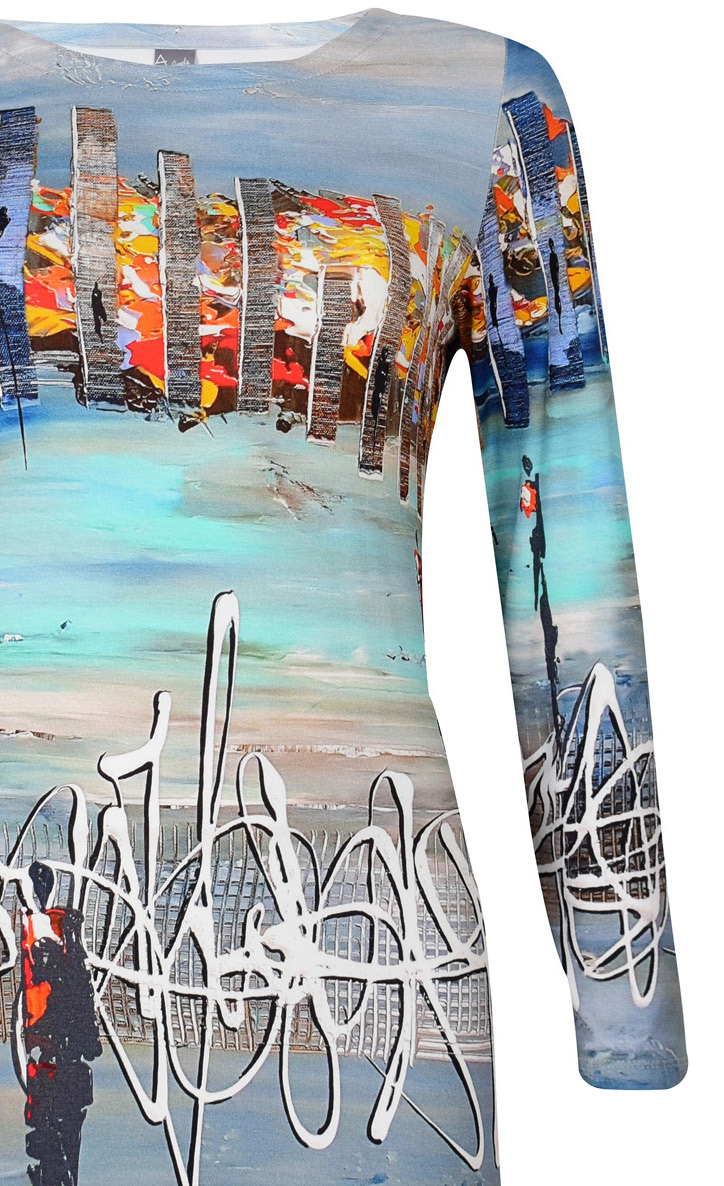Simply Art Dolcezza: Indeed A Picture Perfect Beach Abstract Art Tunic (1 Left!)