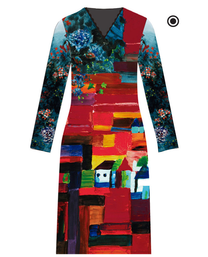 Maloka: French Fairytale Village Abstract Art Slip Dress (More Arrived!)