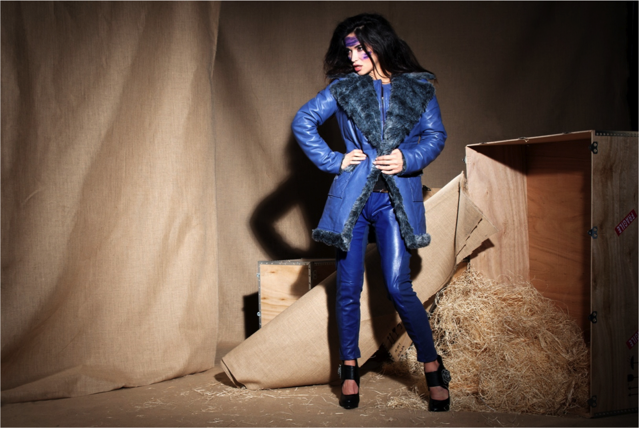 Les Fees Du Vent Couture: Crazy Sexy Genuine Leather Faux Fur Coat (Almost Gone!)