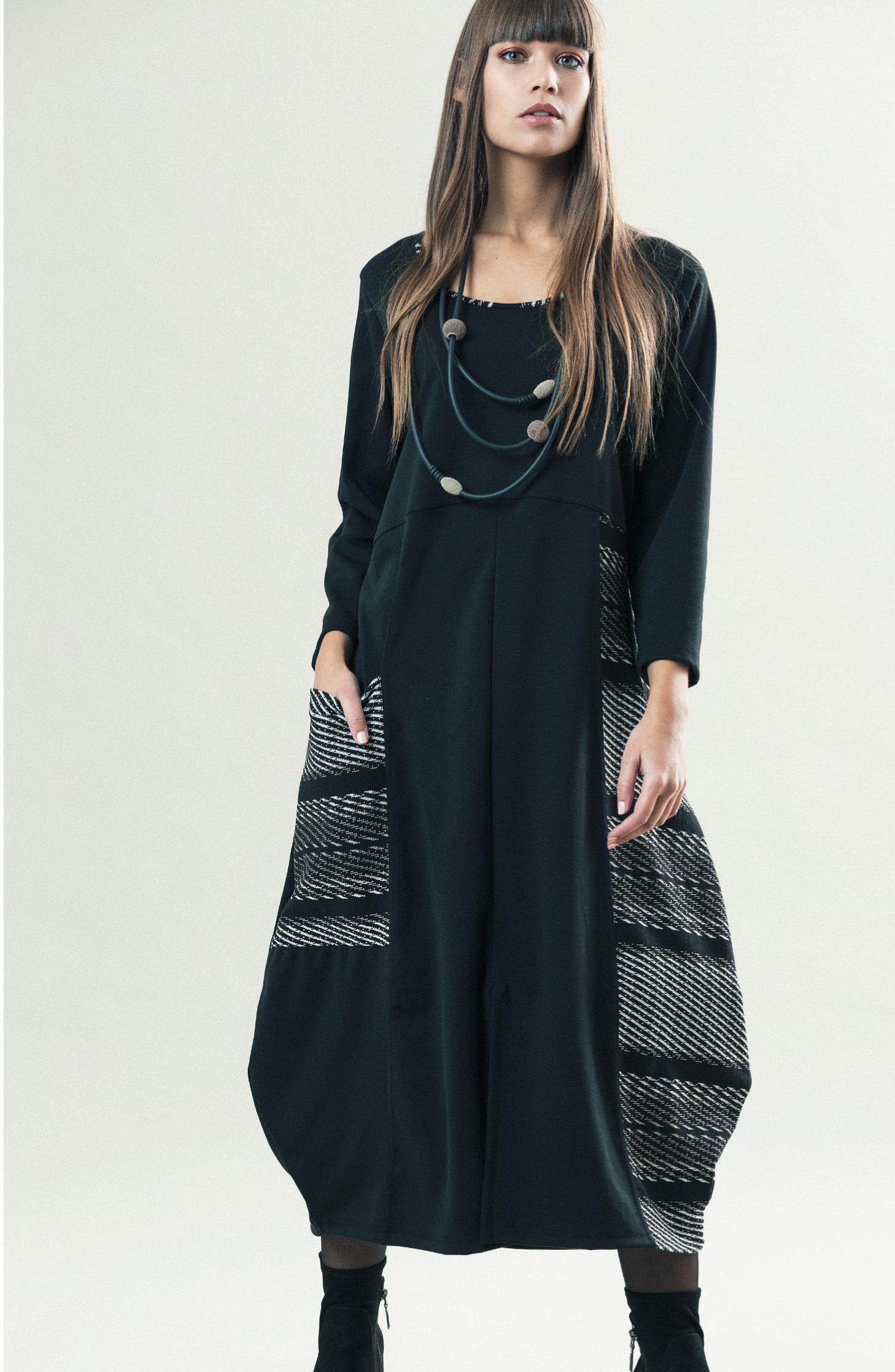G!OZE France: Jacquard Pocket Bubble Hem Dress (1 Left!) G_CALAS_N2