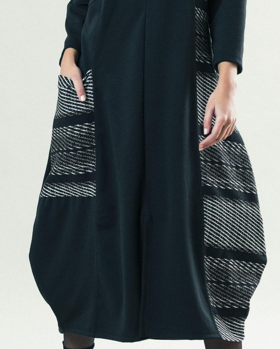G!OZE France: Jacquard Pocket Bubble Hem Dress (1 Left!)