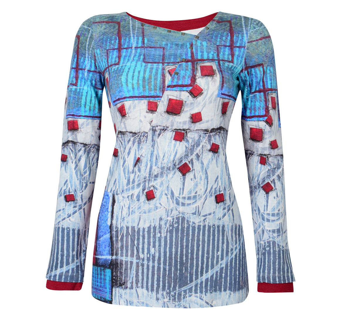 Simply Art Dolcezza: Asymmetrical Spiritually Square Uneven Abstract Art Tunic SOLD OUT Dolcezza_SimplyArt_59661