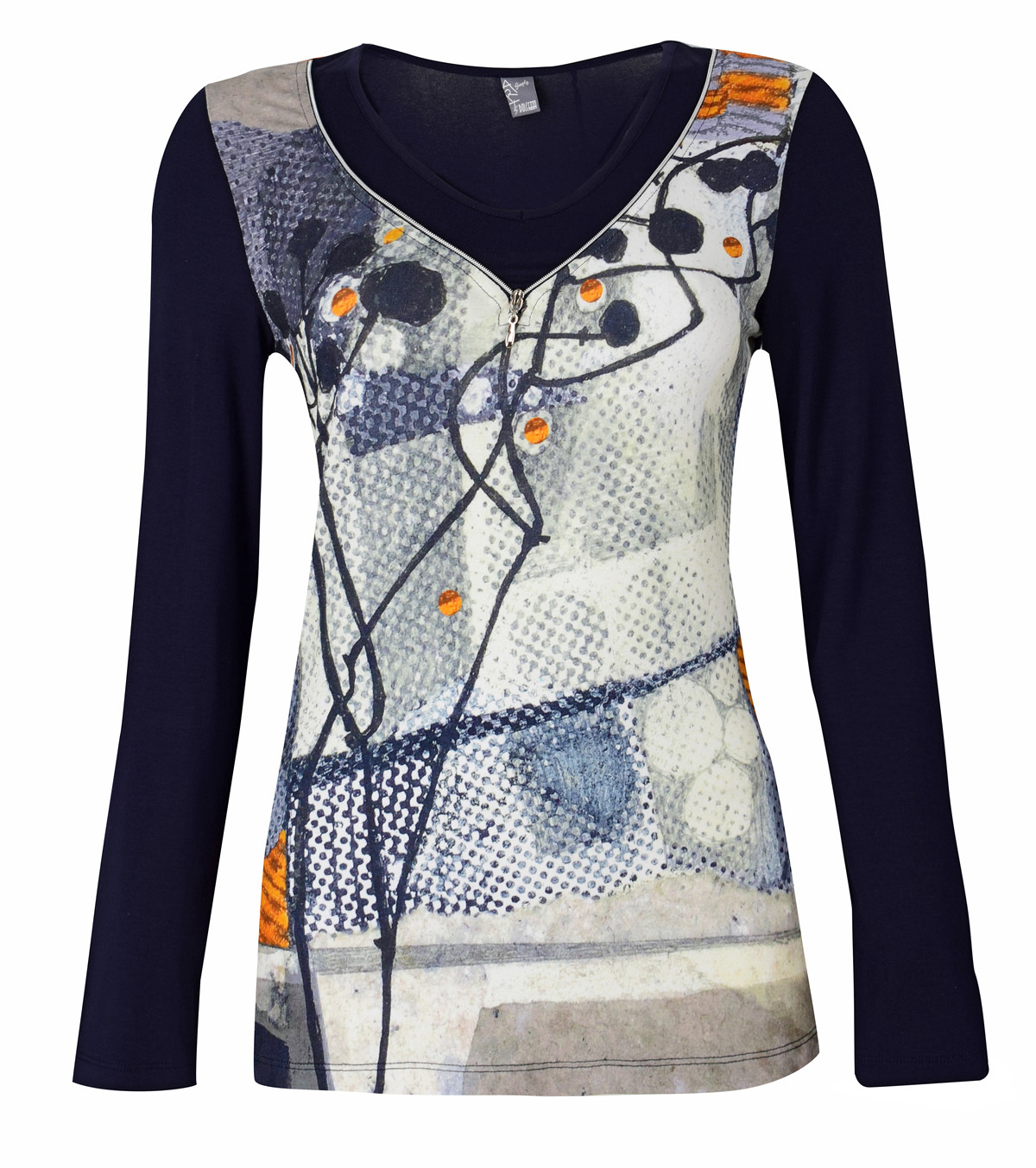Simply Art Dolcezza: Incredibly Dandy Dragonfly Zip Abstract Art Tunic SOLD OUT Dolcezza_SimplyArt_59693_N