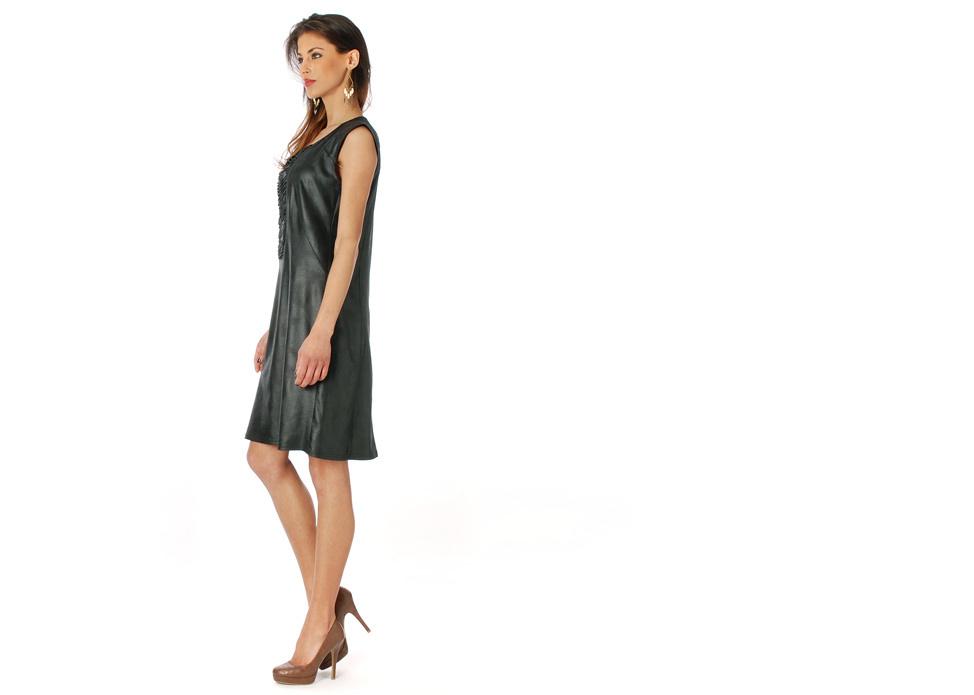 Femme Je Vous Paris: Midnight Suede Sexy Dress (Few Left!)