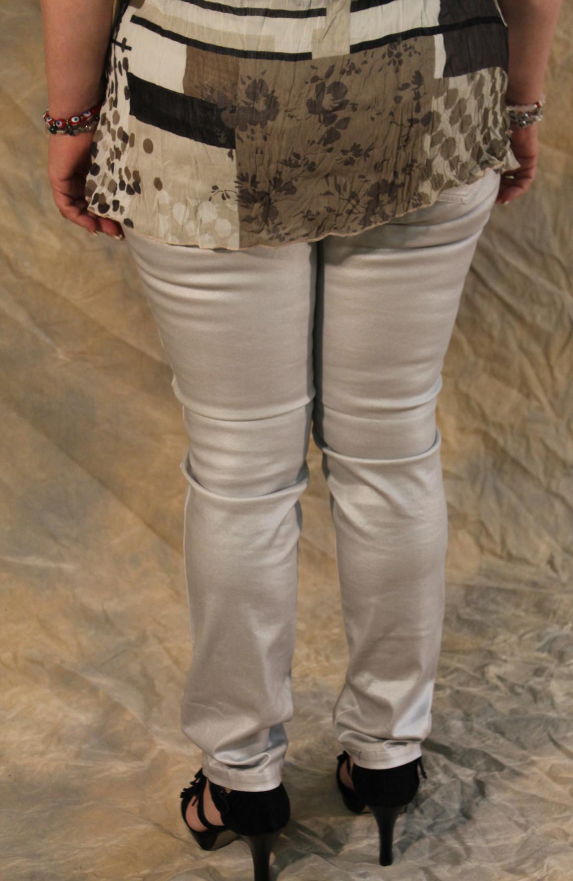 Lauren Vidal Silver Sexy Pant