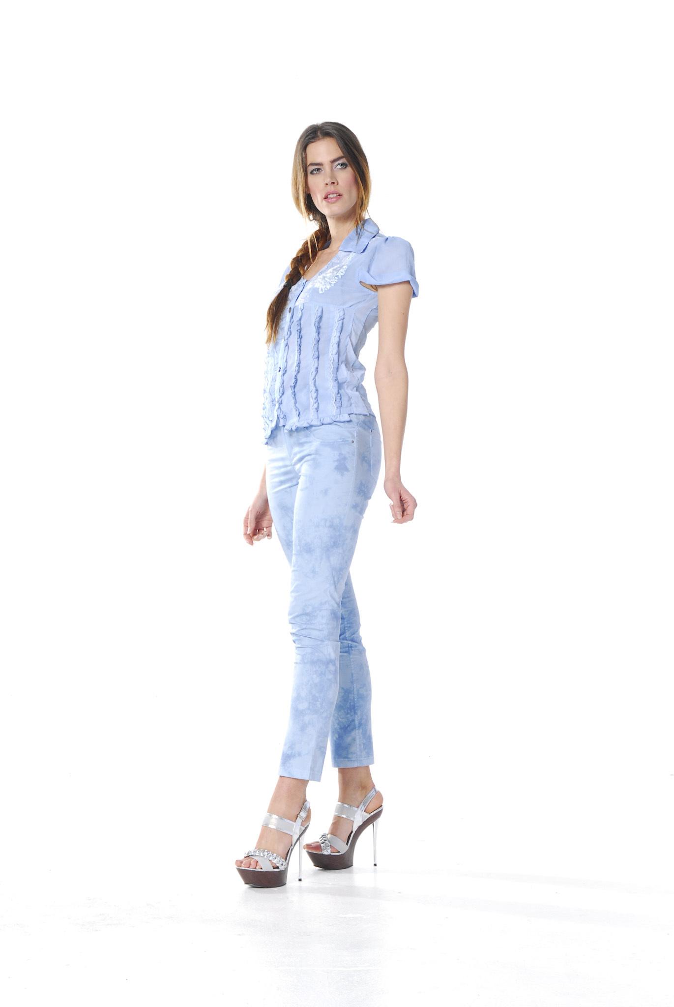 Les Fees Du Vent Couture: Pantalon Baby Blue Splash