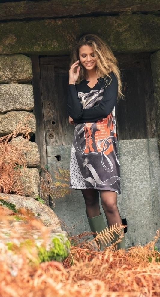 Maloka: Jazz Girl Printed Jacquard Zig Zag Dress/Tunic