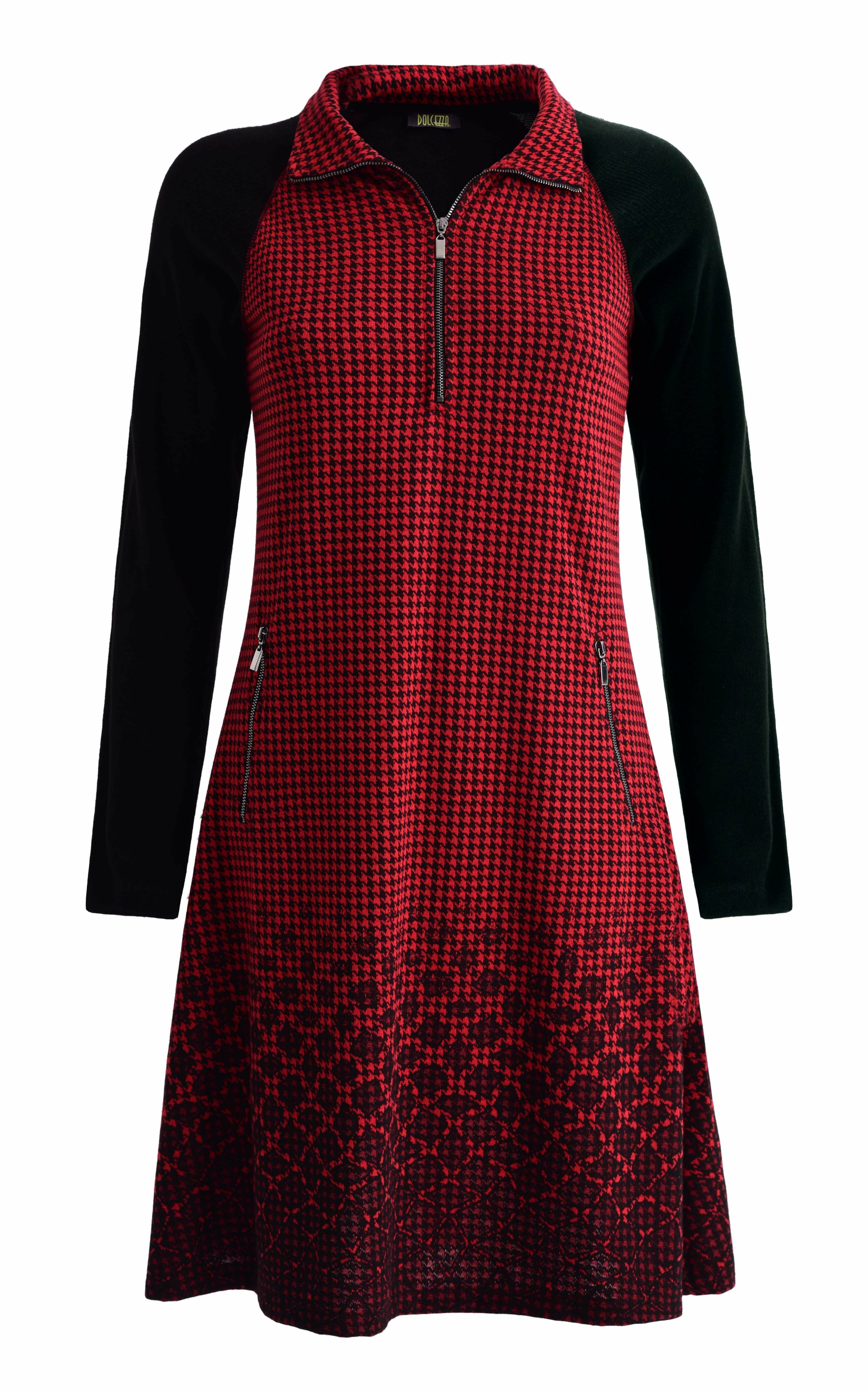 Dolcezza: Checked Petals A-line Dress (Only in Navy, 1 Left!) Dolcezza_59135