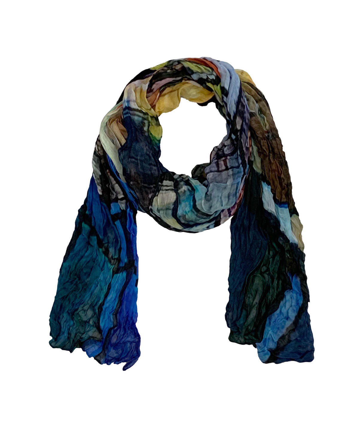 Simply Art Dolcezza: Colors Of Ville La Nuit Abstract Art Scarf SOLD OUT Dolcezza_SimplyArt_59911_N