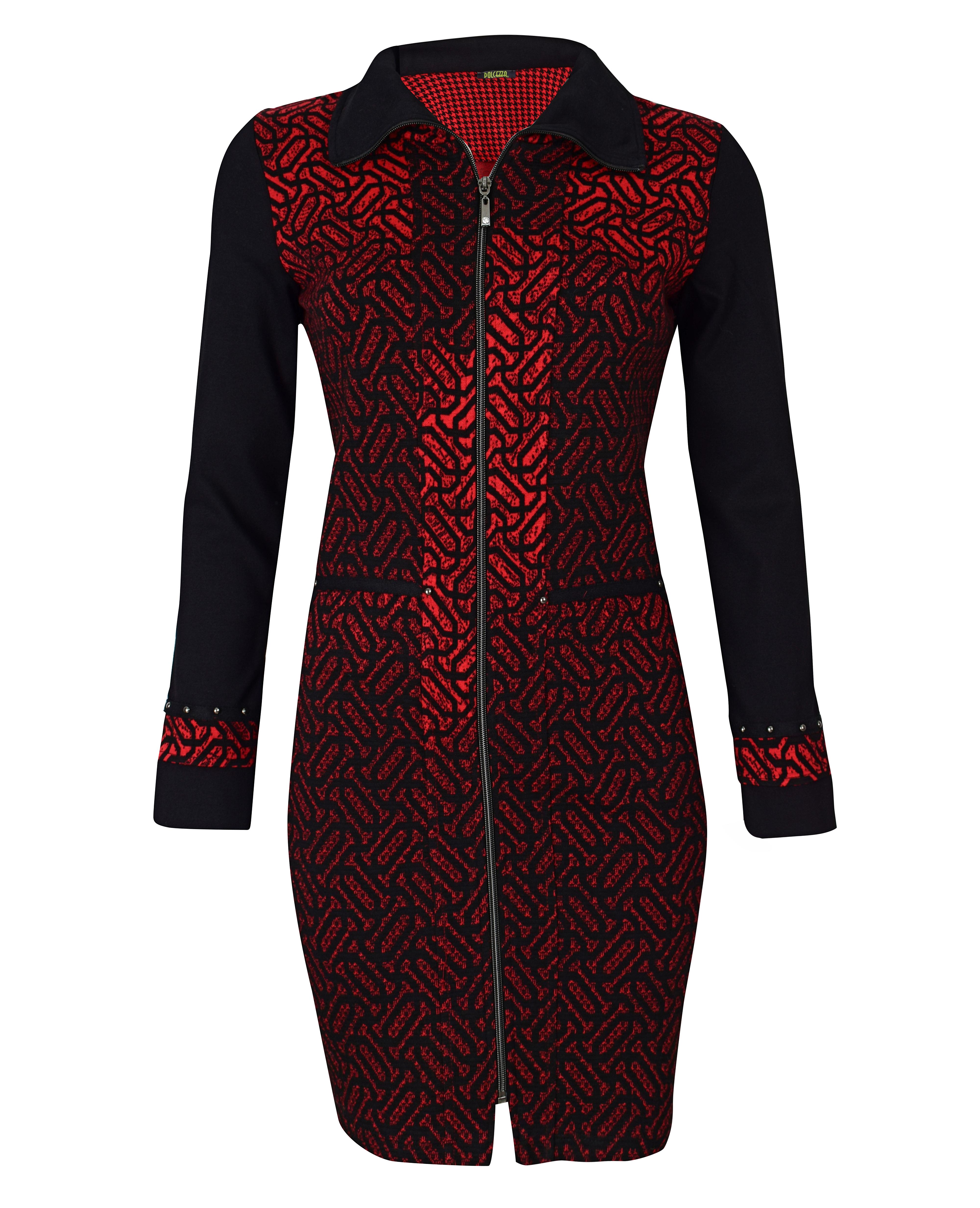 Dolcezza: Dance The Tango Zip Midi Dress (1 Left!) Dolcezza_59144_N
