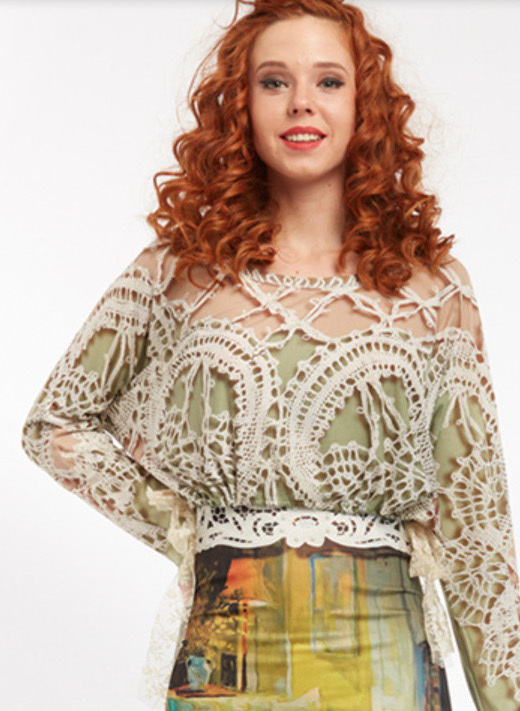 IPNG: Lace Illusion Poetic Layers Top