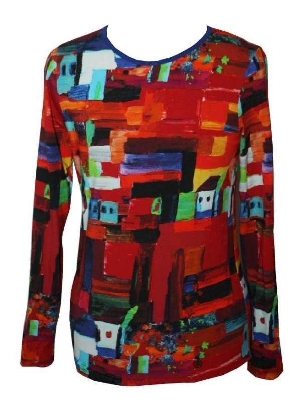 Maloka: French Fairytale Village Abstract Art Tunic SOLD OUT MK_VERONICA