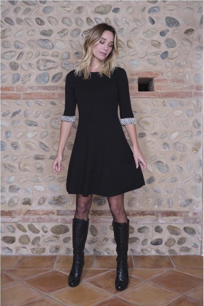 Paul Brial: Pretty In Pearls Princess Midi Dress PB_MAGALIE_N
