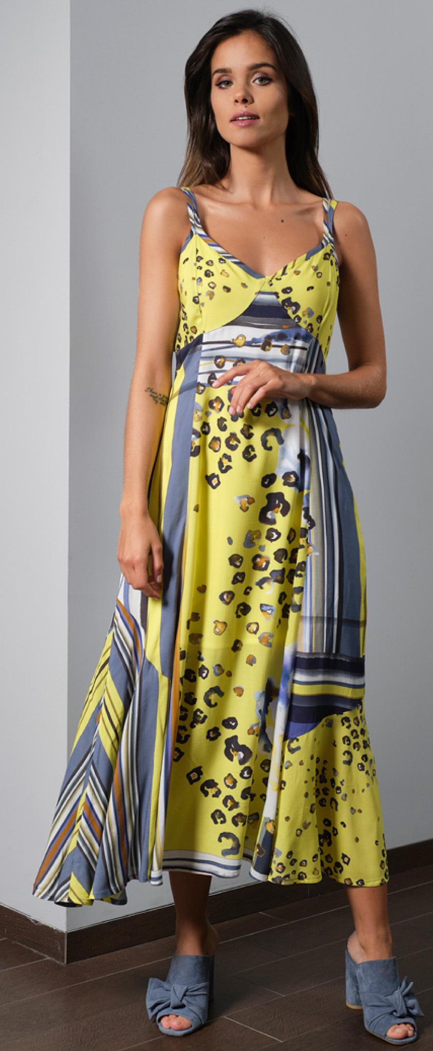 Paul Brial: Wild Lily Under The Sun Sweetheart Maxi Dress FLEUR_N2