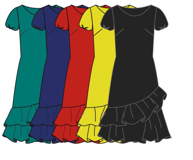 Paul Brial: Sexy Double Ruffle Trouble Asymmetrical Midi Dress (Few Left!)