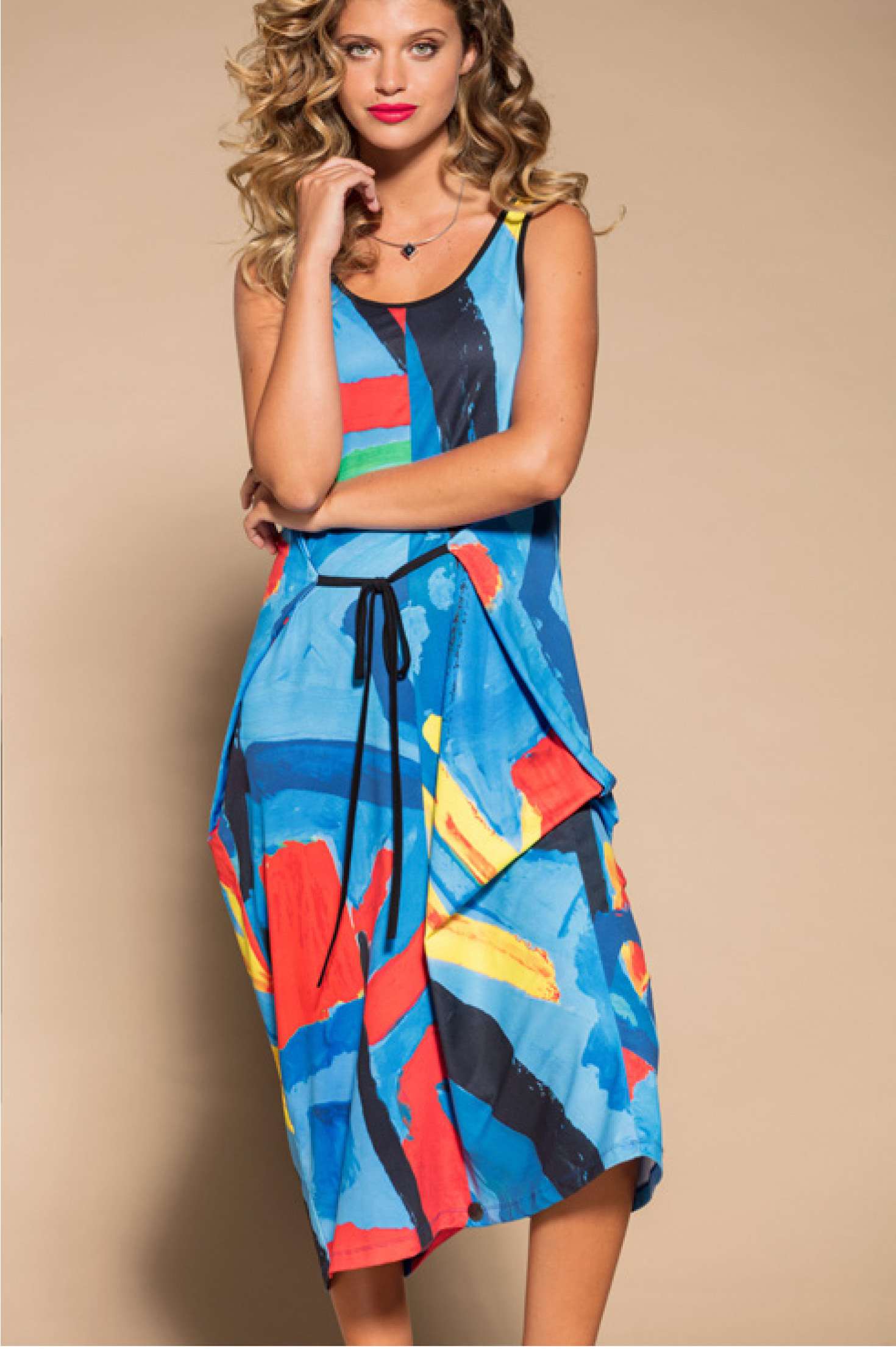 Maloka: Colors Of Picasso's Gypsy Beauty Abstract Art Jumpsuit/Sundress (Few Left!) MK_GAUTHIER_N1