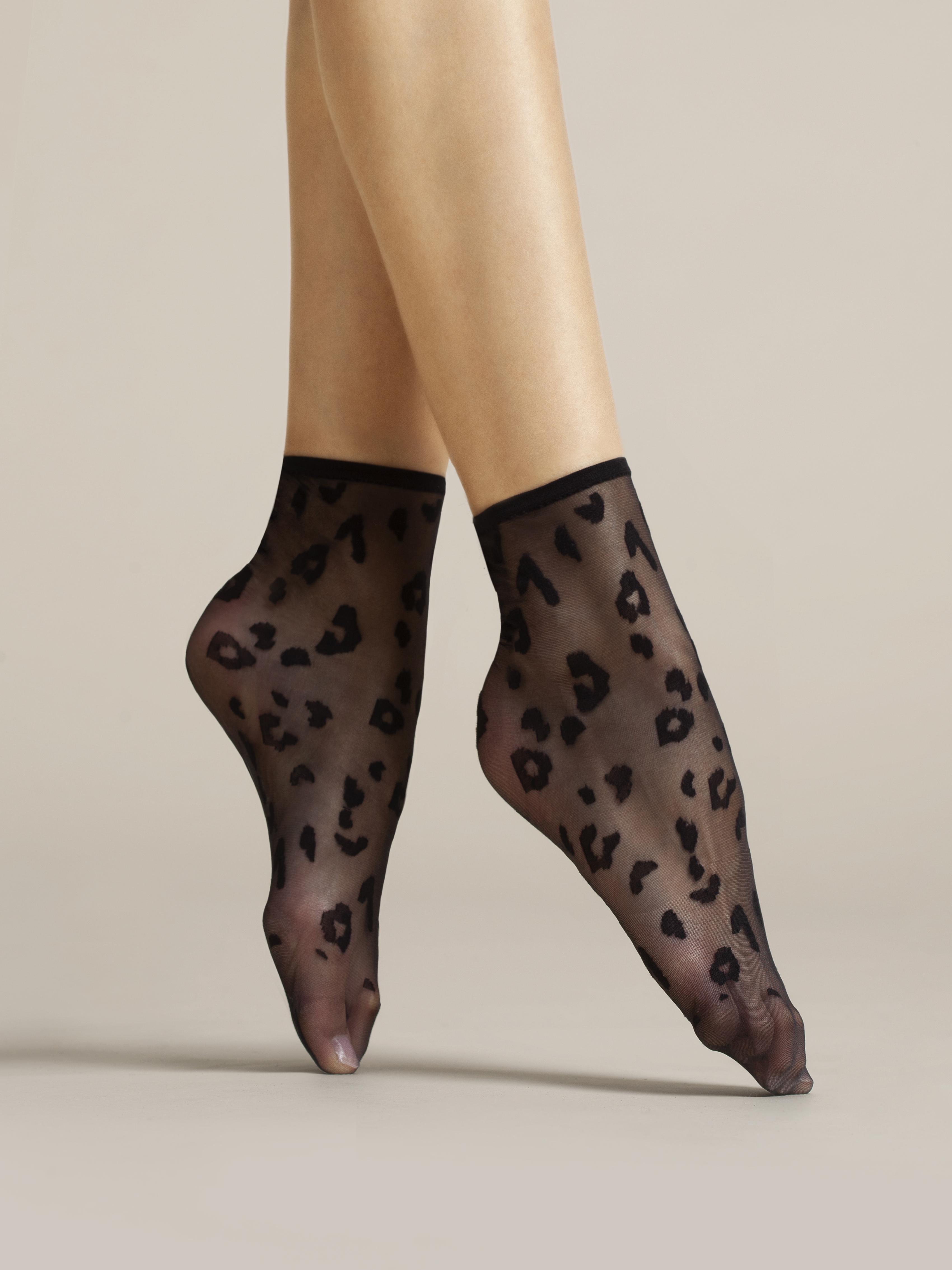 Fiore: Leopard Spots Nylon Socks SOLD OUT FIO_DORIA