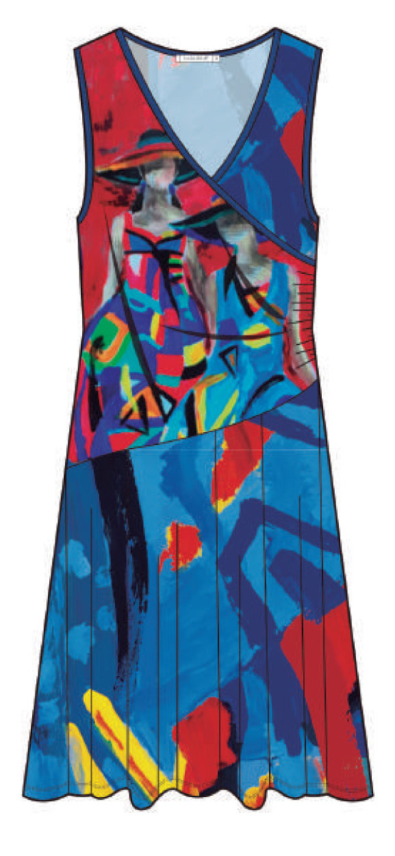 Maloka: Colors Of Picasso's Gypsy Beauty Abstract Art Crossover Dress