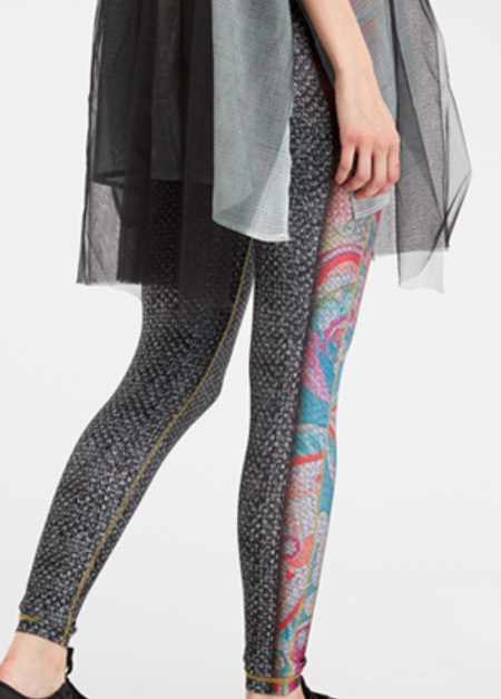 IPNG: Royal Summer Stamp Color Contrast Illusion Legging (Some Ship Immed!) IPNG_RSSYL-128_N