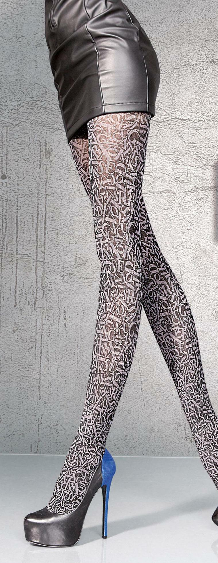 Fiore: Stiletto Thighs Patterned Tights (Few Left!) FIO_Danisa