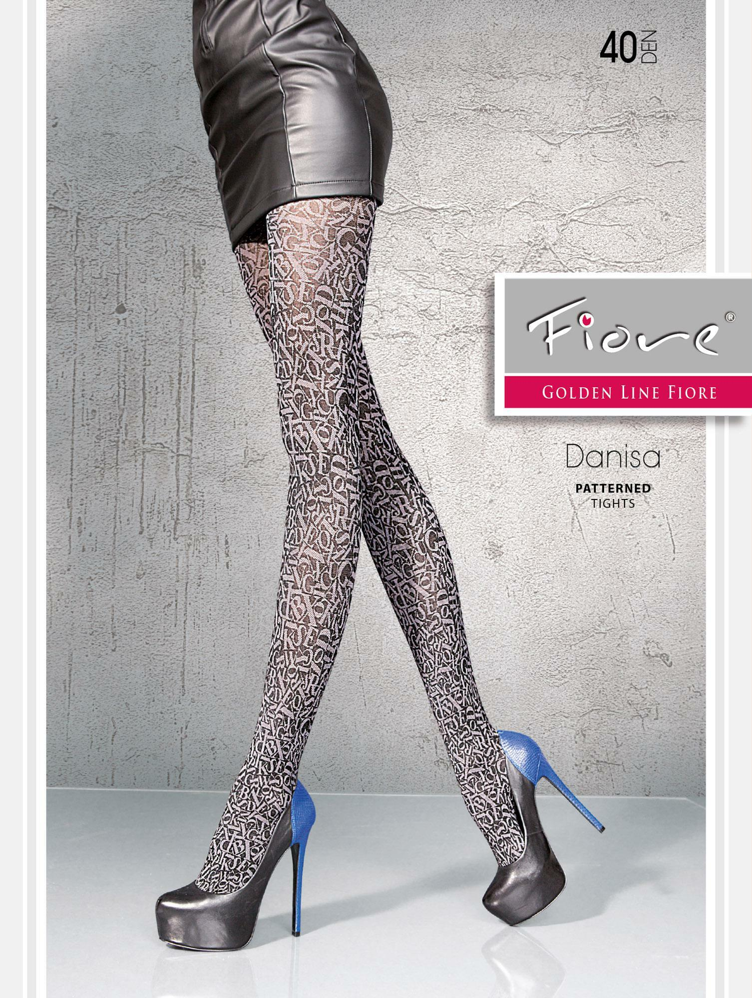 Fiore: Stiletto Thighs Patterned Tights (Few Left!)
