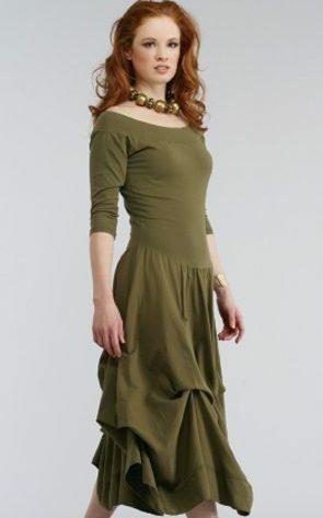 Luna Luz: Tied & Dyed Off The Shoulder Godet Dress SOLD OUT LL_393T_NEW