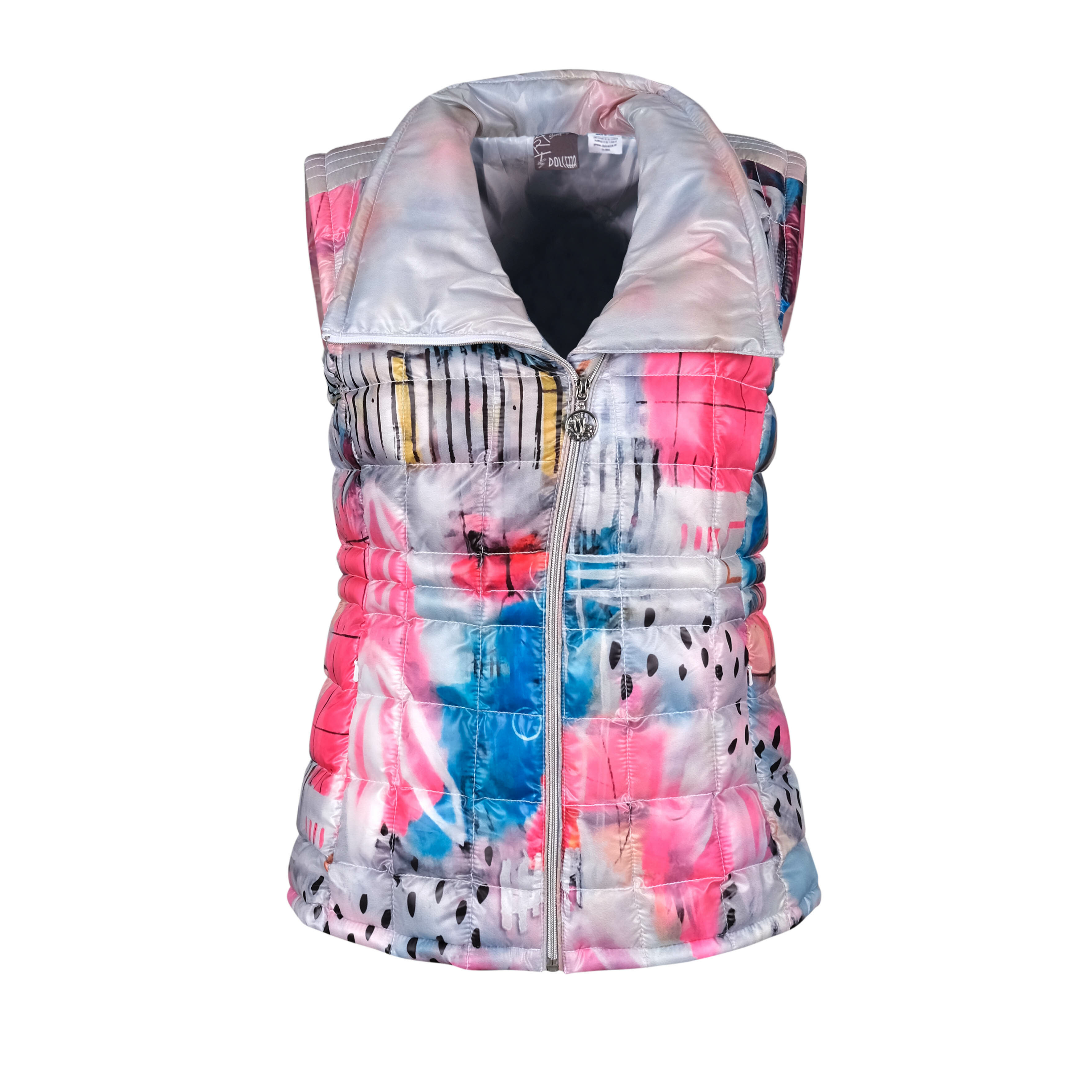 Simply Art Dolcezza: Receive The Best Things In Life Abstract Art Puffer Vest