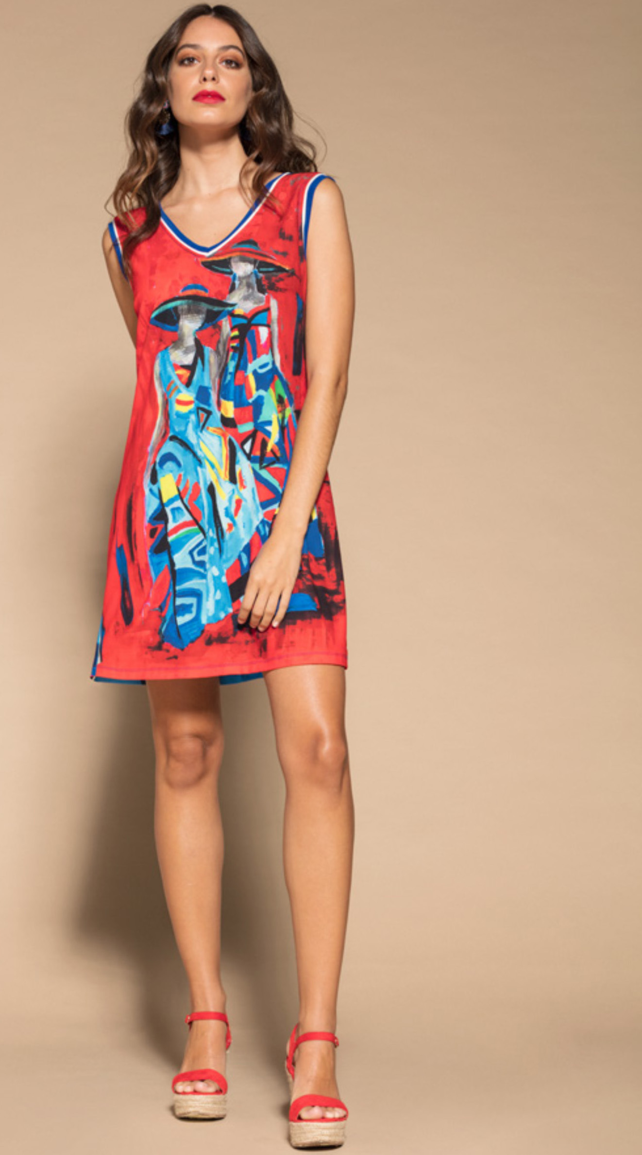 Maloka: Colors Of Picasso's Gypsy Beauty Abstract Art Tunic/Dress (More Arrived!) MK_GENEVIEVE_N1