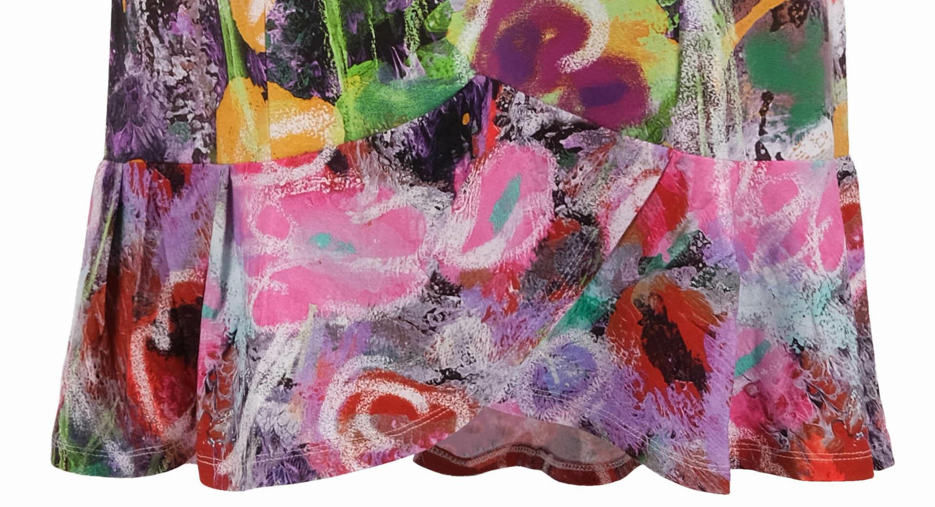 Simply Art Dolcezza: Wildest Flowers Tulip Hem Abstract Art Dress