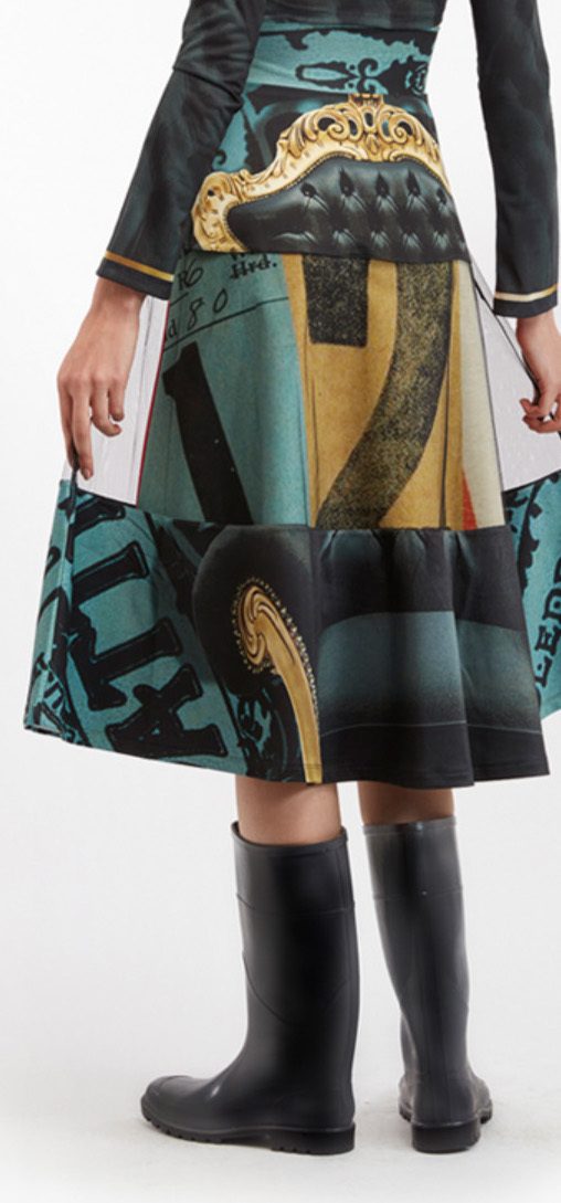 IPNG: Black Emerald Furniture Gossips Illusion Skirt (Some Ship Immed!)