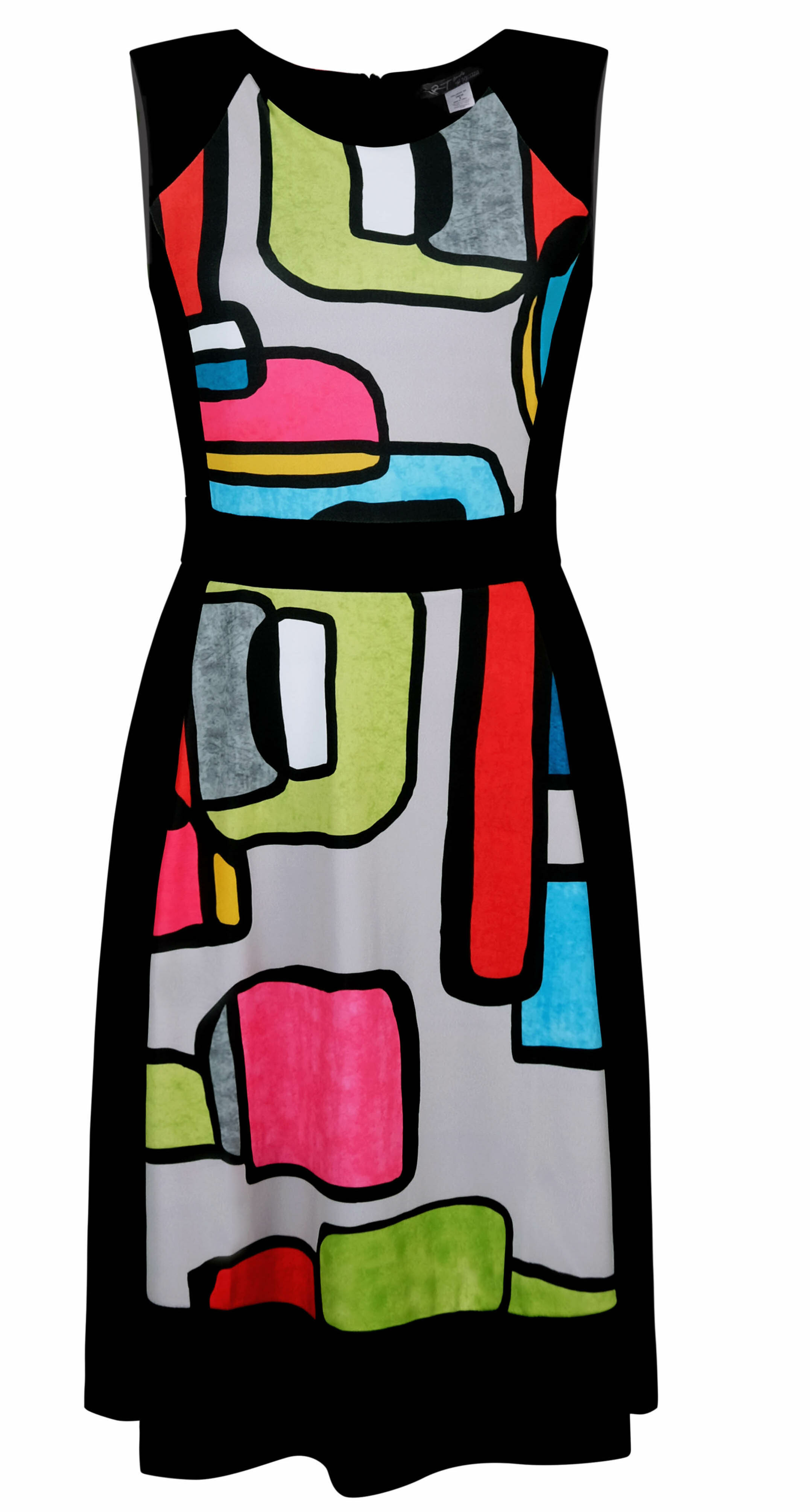 Simply Art Dolcezza: Mid Century Vibrant Romance Abstract Art Dress (Few Left!)