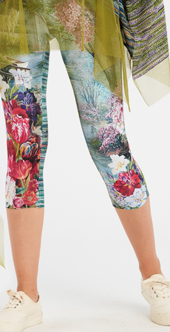 IPNG: In Paradiso Cherry Carnation Illusion Cropped Legging (Ships Immed!)