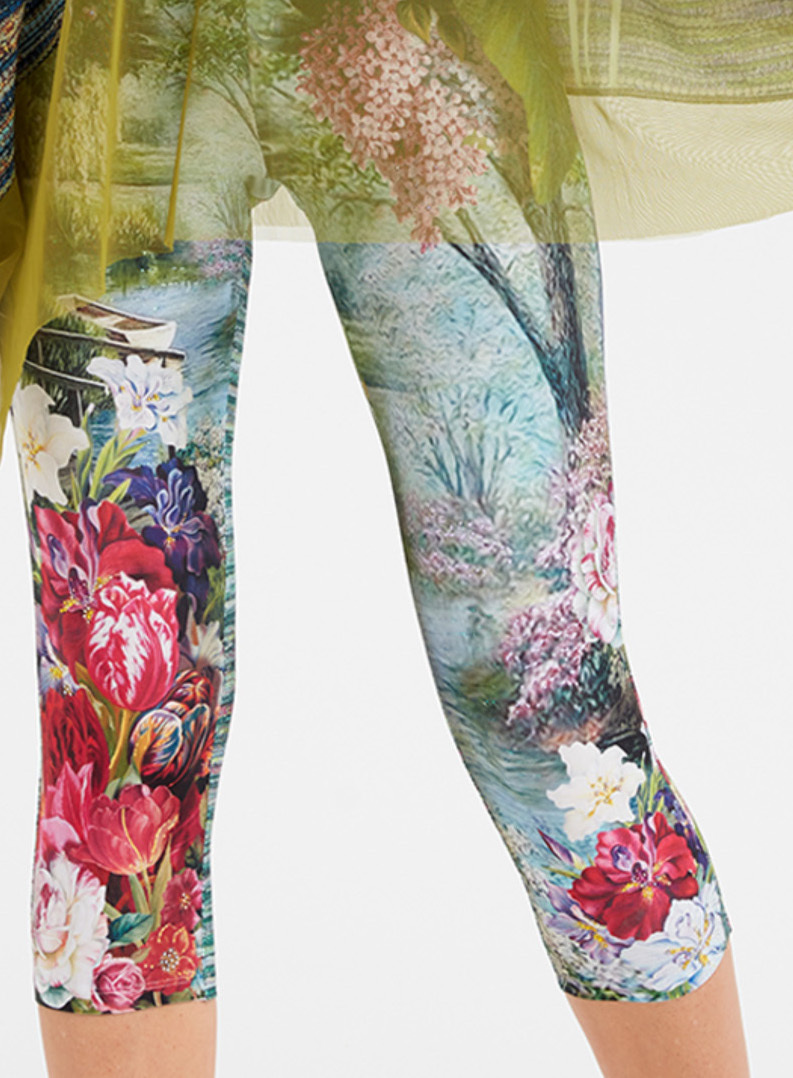 IPNG: In Paradiso Cherry Carnation Illusion Cropped Legging (Ships Immed!) IPNG_IPL-076_N