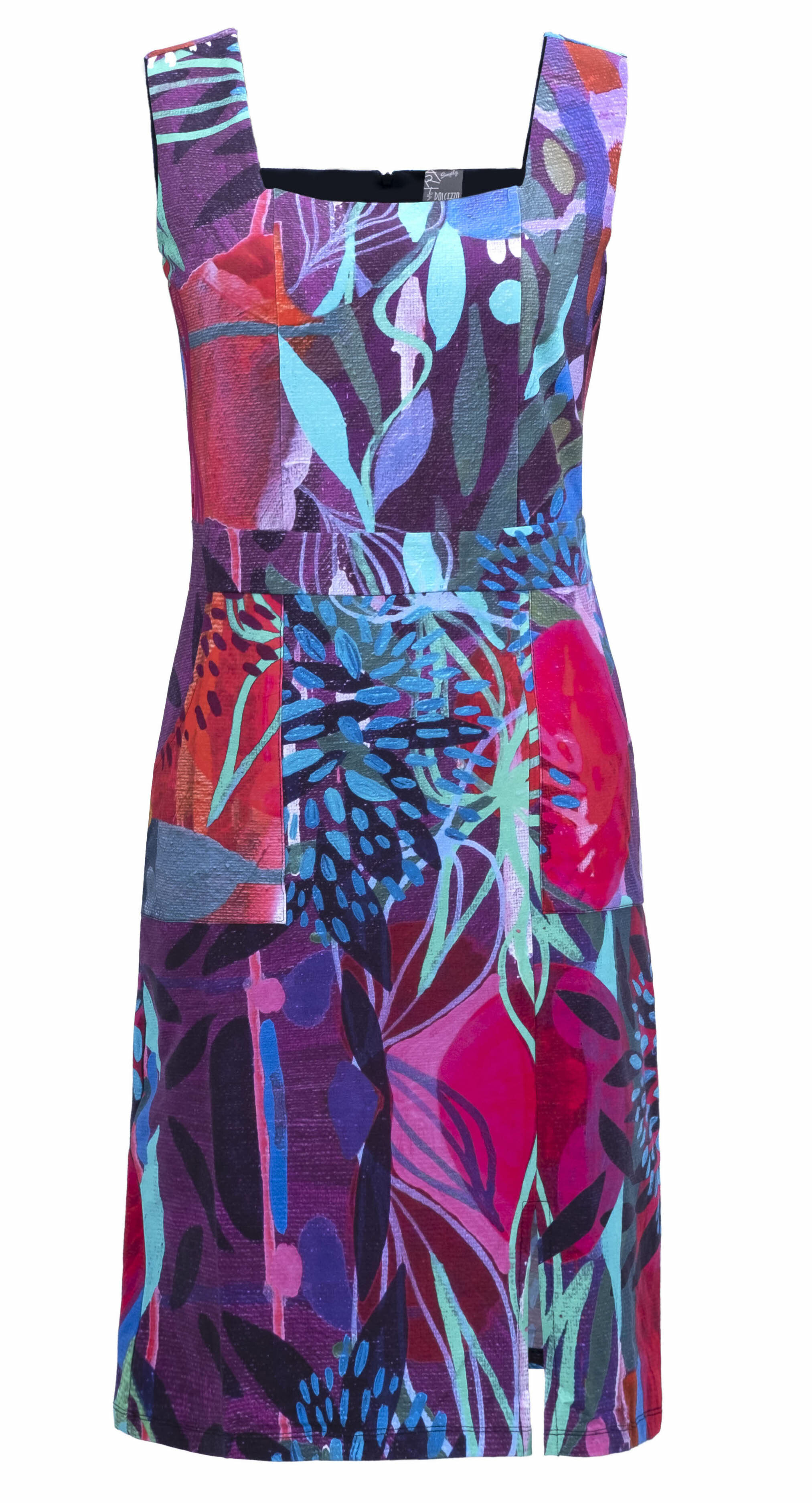Simply Art Dolcezza: Color & Joy Tangle Of Leaves Abstract Art Midi Dress (Few Left!)