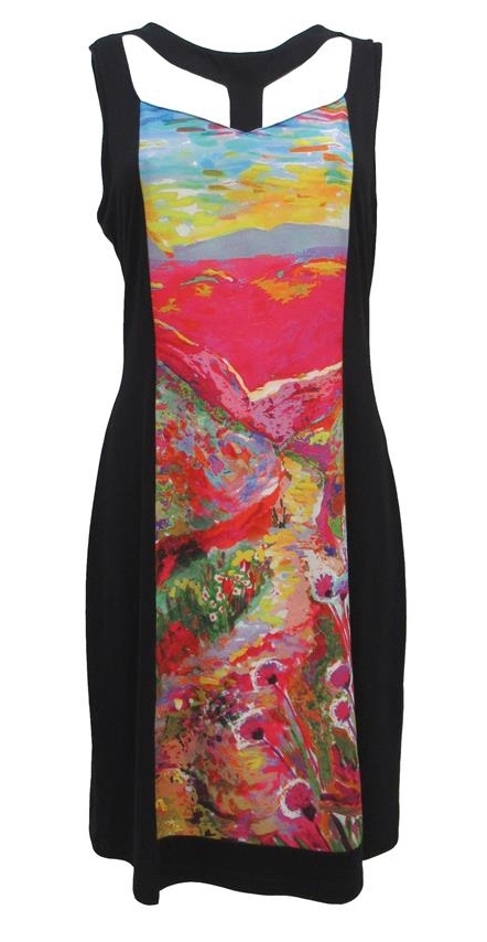 Maloka: Miami Pink Isles Color Contrast Midi Dress (Few Left in Pink Isles!) MK_FLORENCE_N1