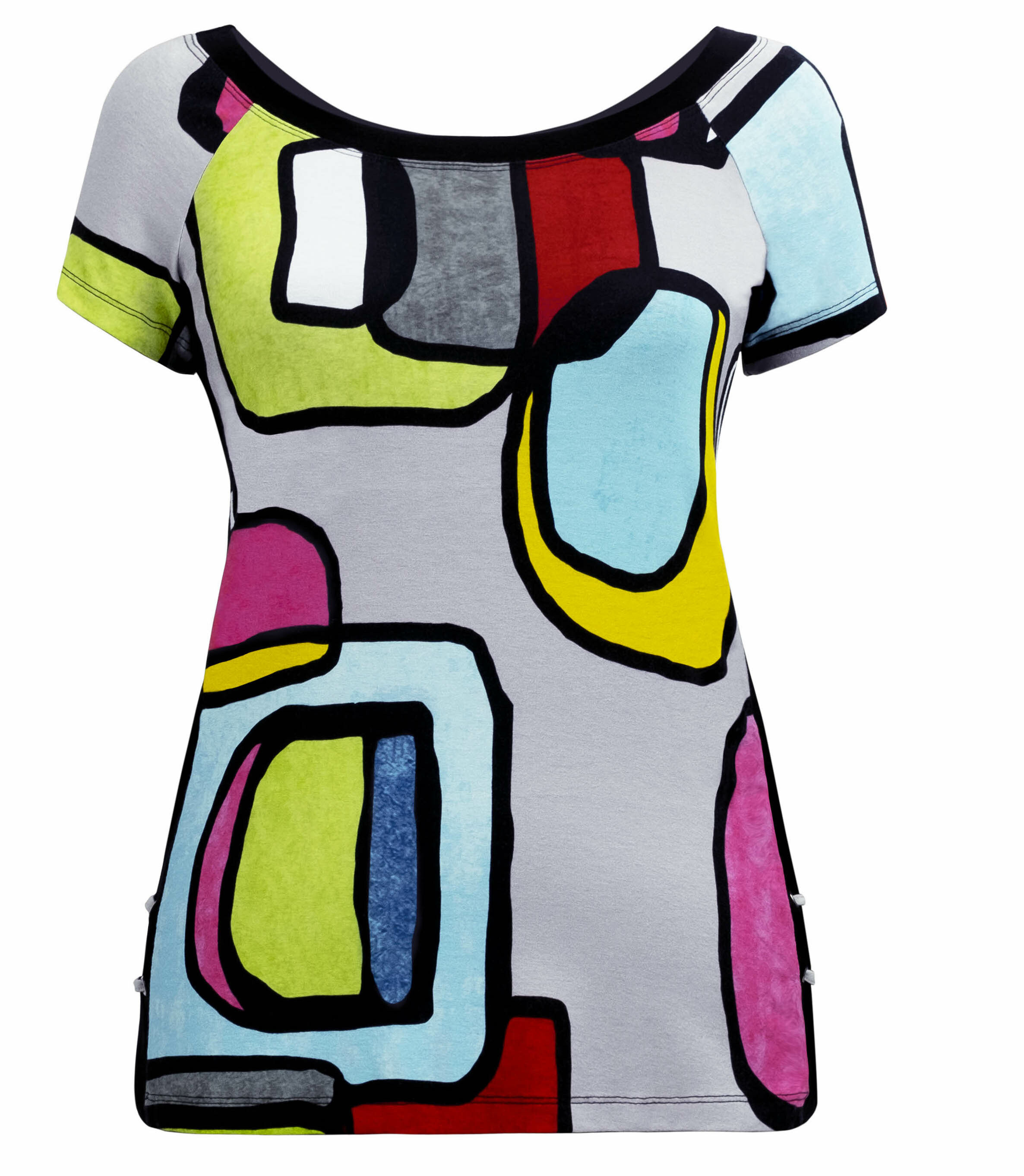 Simply Art Dolcezza: Mid Century Vibrant Romance Abstract Art Tunic Dolcezza_SimplyArt_20630_N
