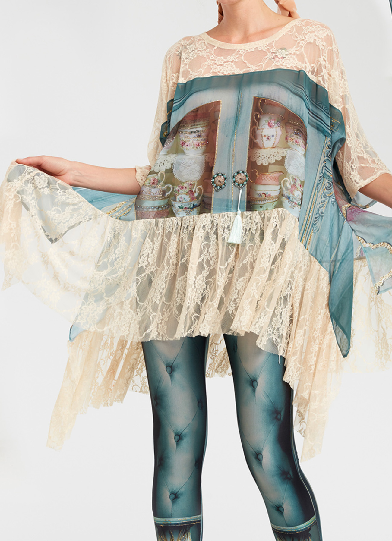 IPNG: Inna Me Royal Rose Cupboard Illusion Tunic (Ships Immed, 1 Left!) IPNG_TIMTU-043_N