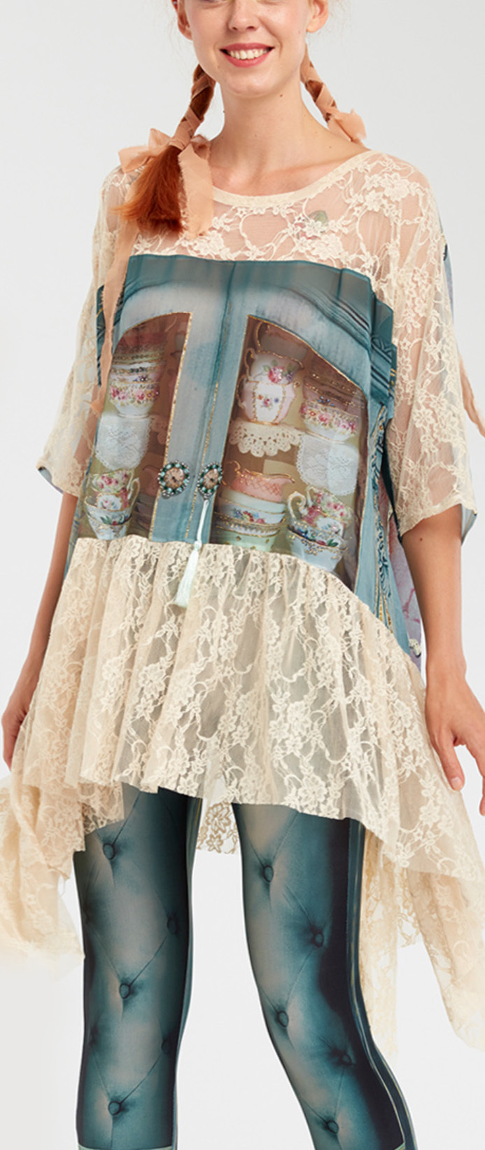 IPNG: Inna Me Royal Rose Cupboard Illusion Tunic (Ships Immed, 1 Left!)