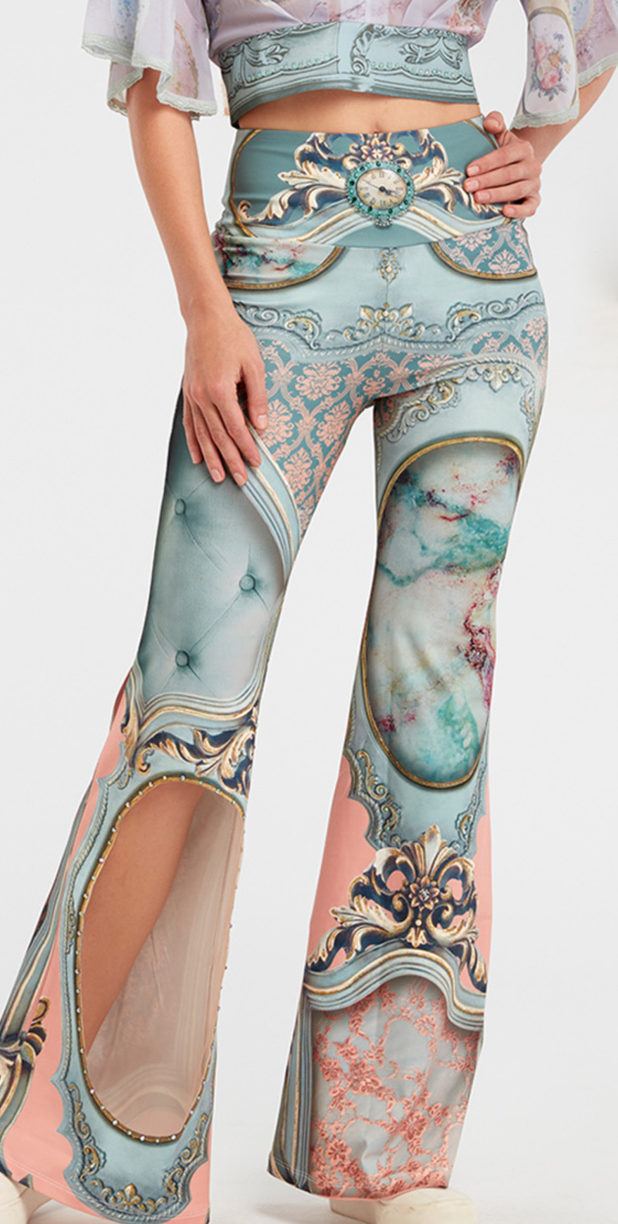IPNG: Inna Me Royal Rose Cupboard Diamond Illusion Flare Pant (Some Ship immed!) IPNG_TIMP-041_N