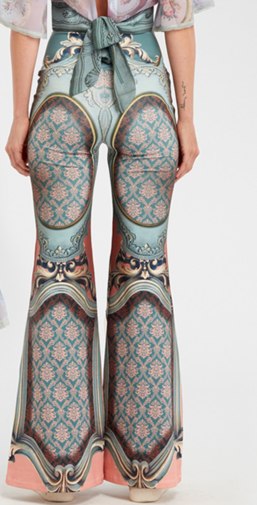 IPNG: Inna Me Royal Rose Cupboard Diamond Illusion Flare Pant (Some Ship immed!)