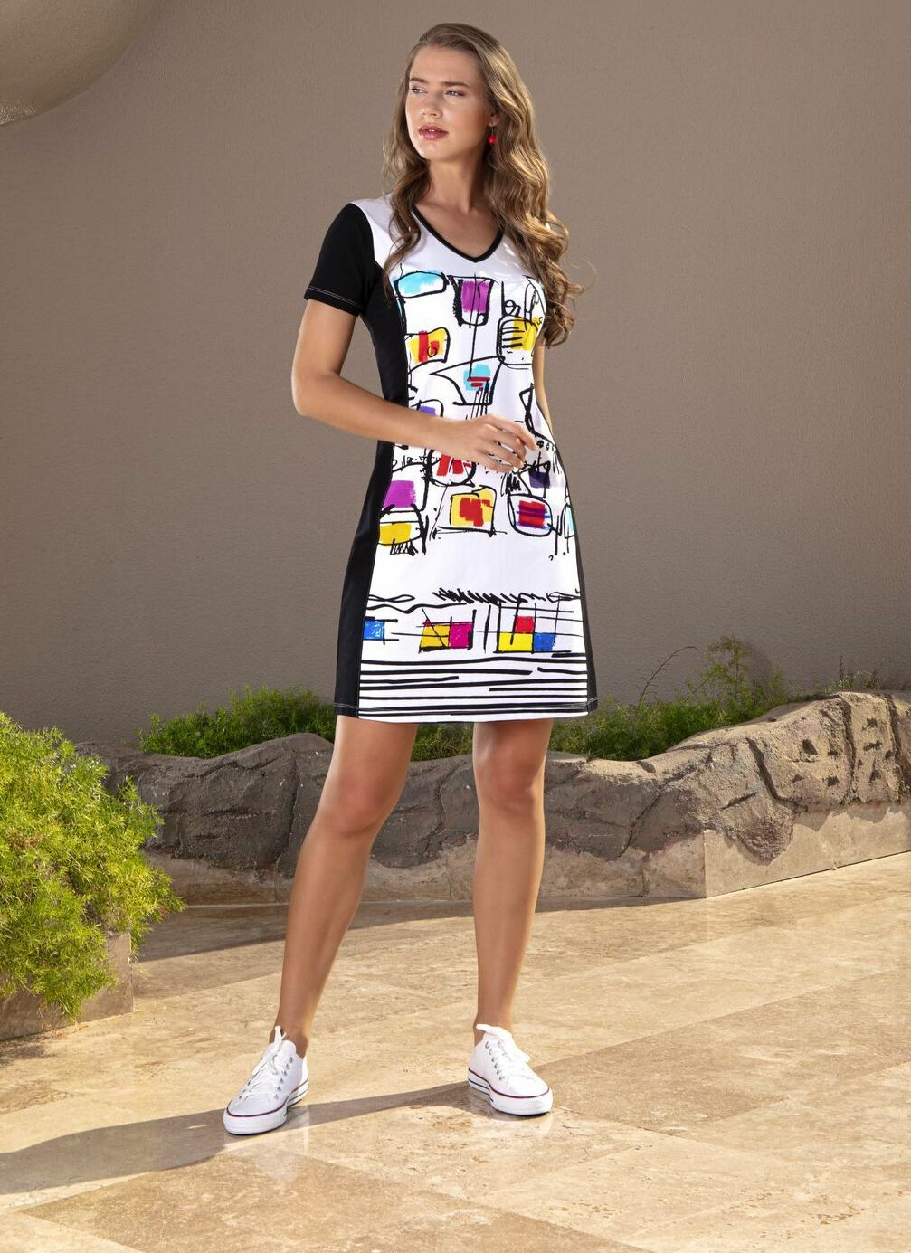 Simply Art Dolcezza: Medieval Ribbons of Etagere & Miss Eze Abstract Art Dress/Tunic (1 Left!) DOLCEZZA_SIMPLART_20698_N