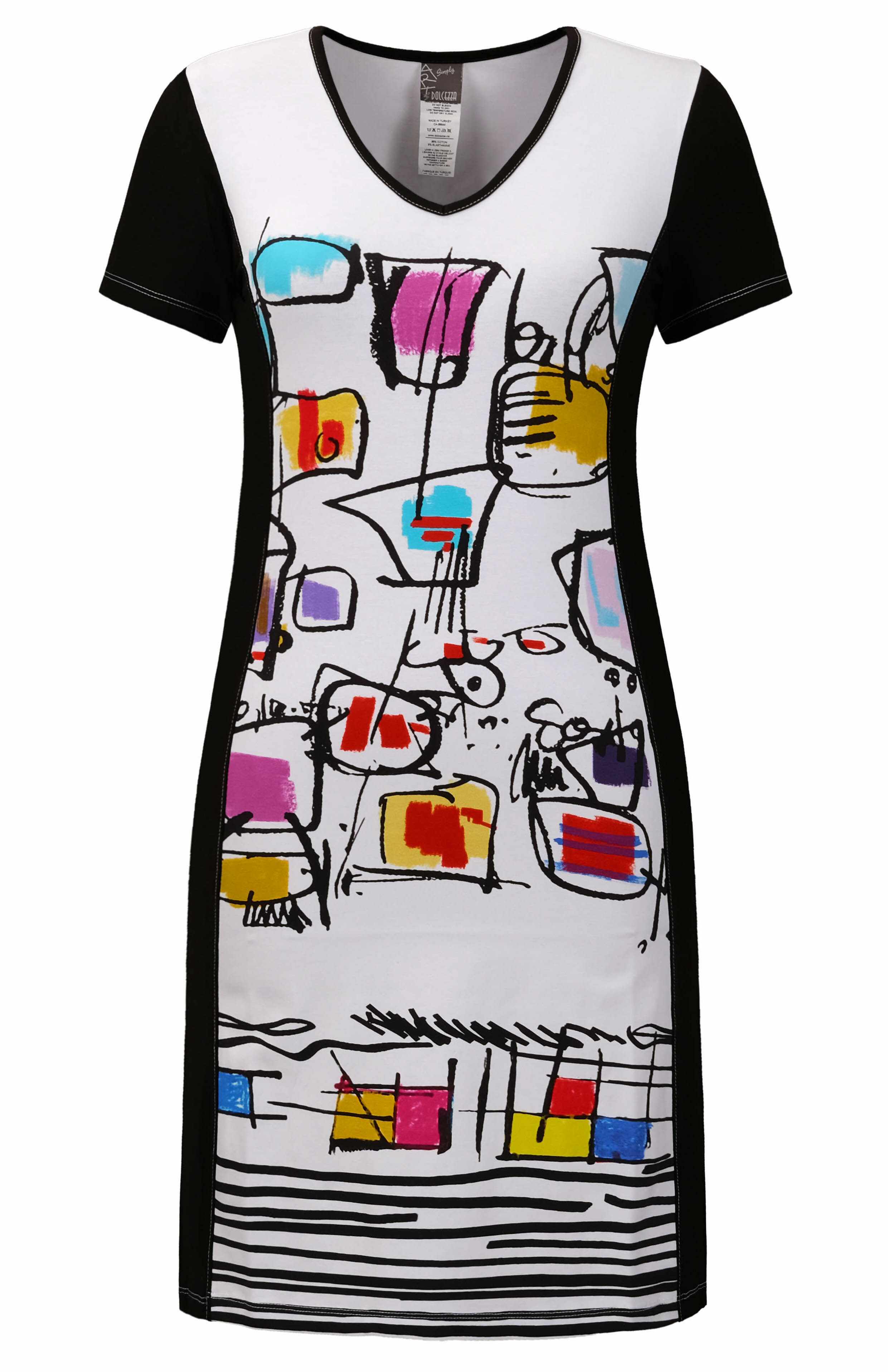 Simply Art Dolcezza: Medieval Ribbons of Etagere & Miss Eze Abstract Art Dress/Tunic (1 Left!)