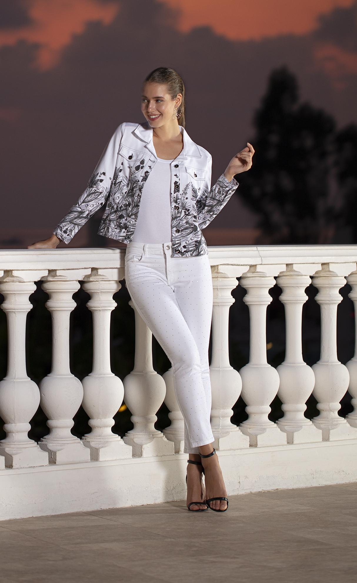 Simply Art Dolcezza: Wild Flowers In Black & White Abstract Art Soft Denim Jacket (1 Left!)