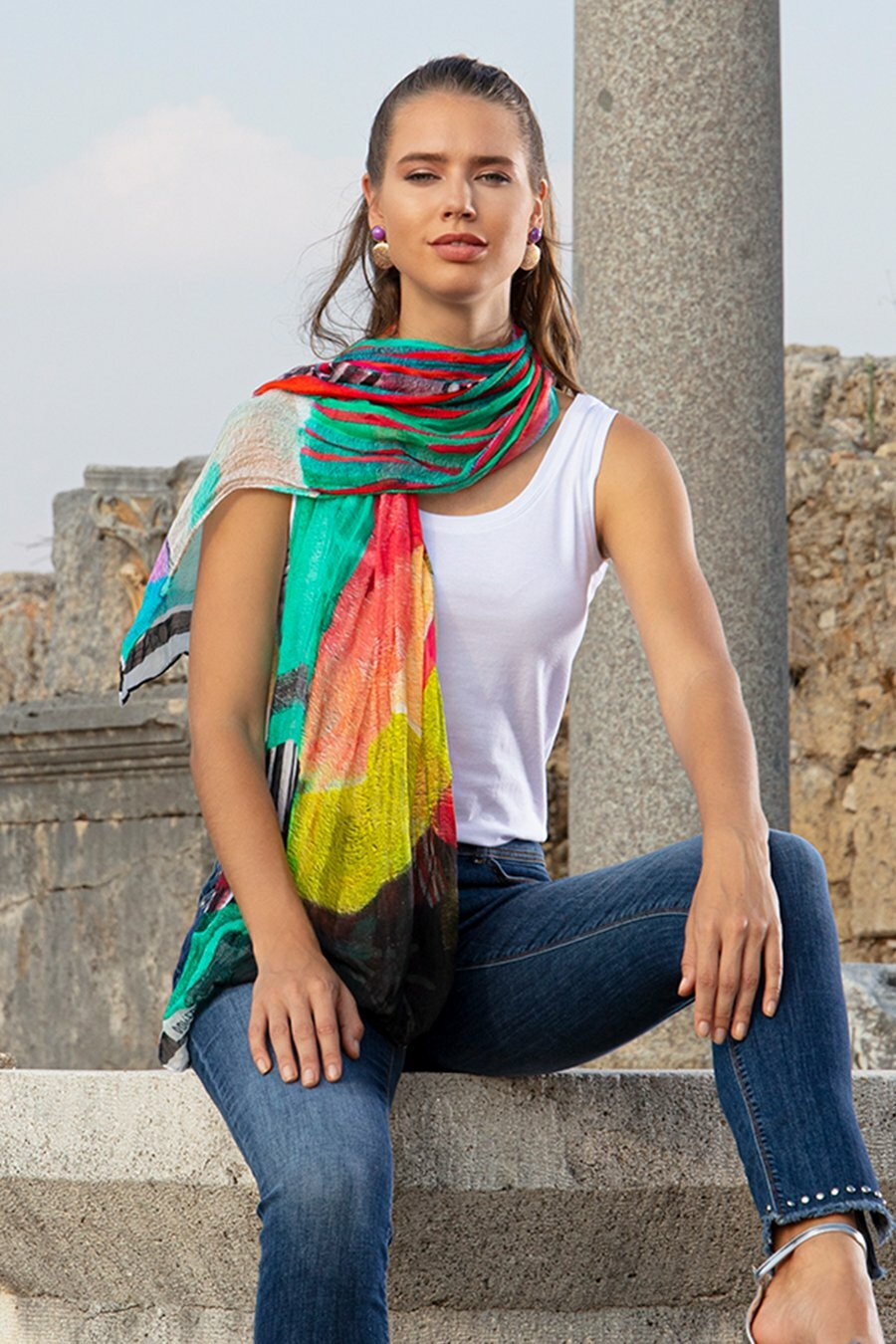 Simply Art Dolcezza Abstract Art Scarves (Many art patterns!) DOLCEZZA_SIMPLYART_SCARVES_NEW1