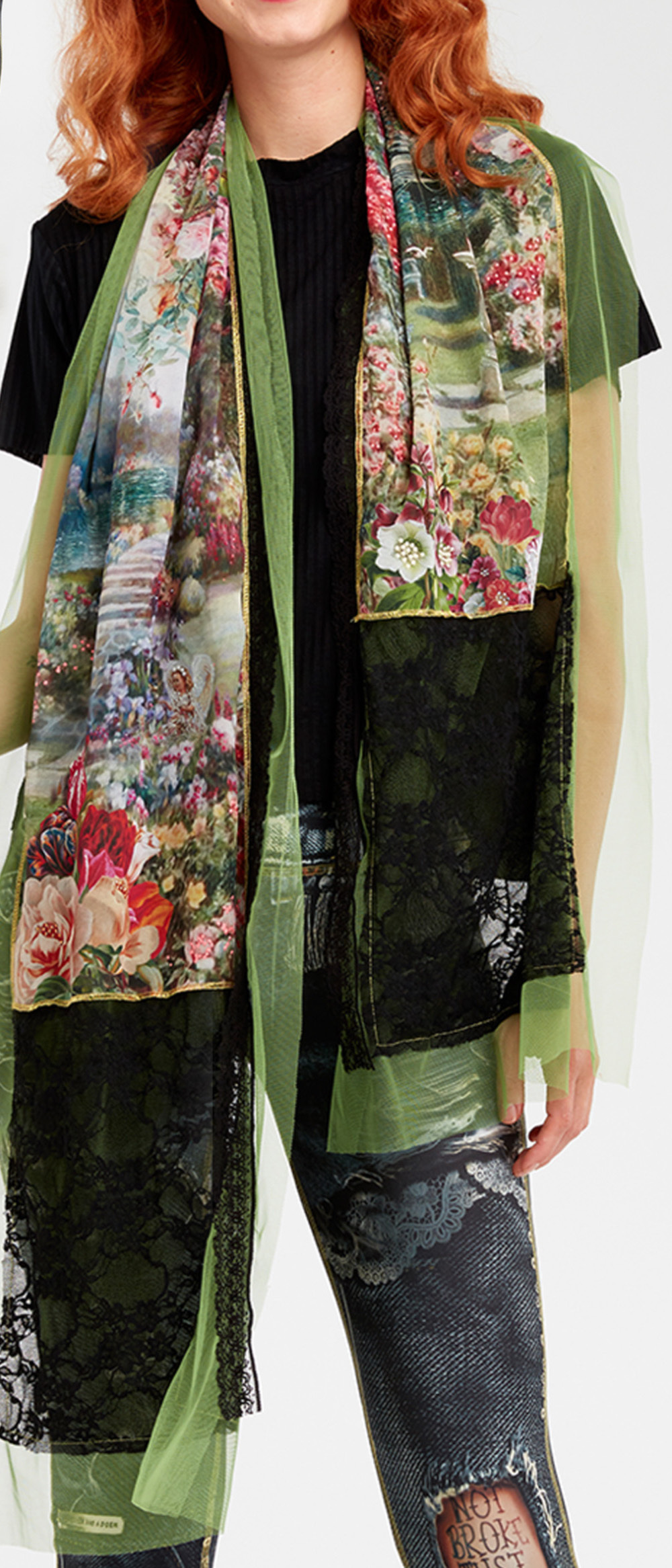 IPNG: In Paradiso Cherry Carnation Scarf (Ships Immed, 1 Left!)
