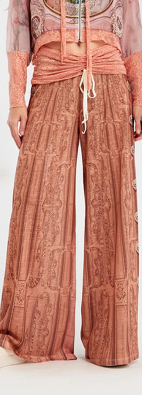 IPNG: Inna Me Royal Rose Clocks Illusion Comfort Drape Pants