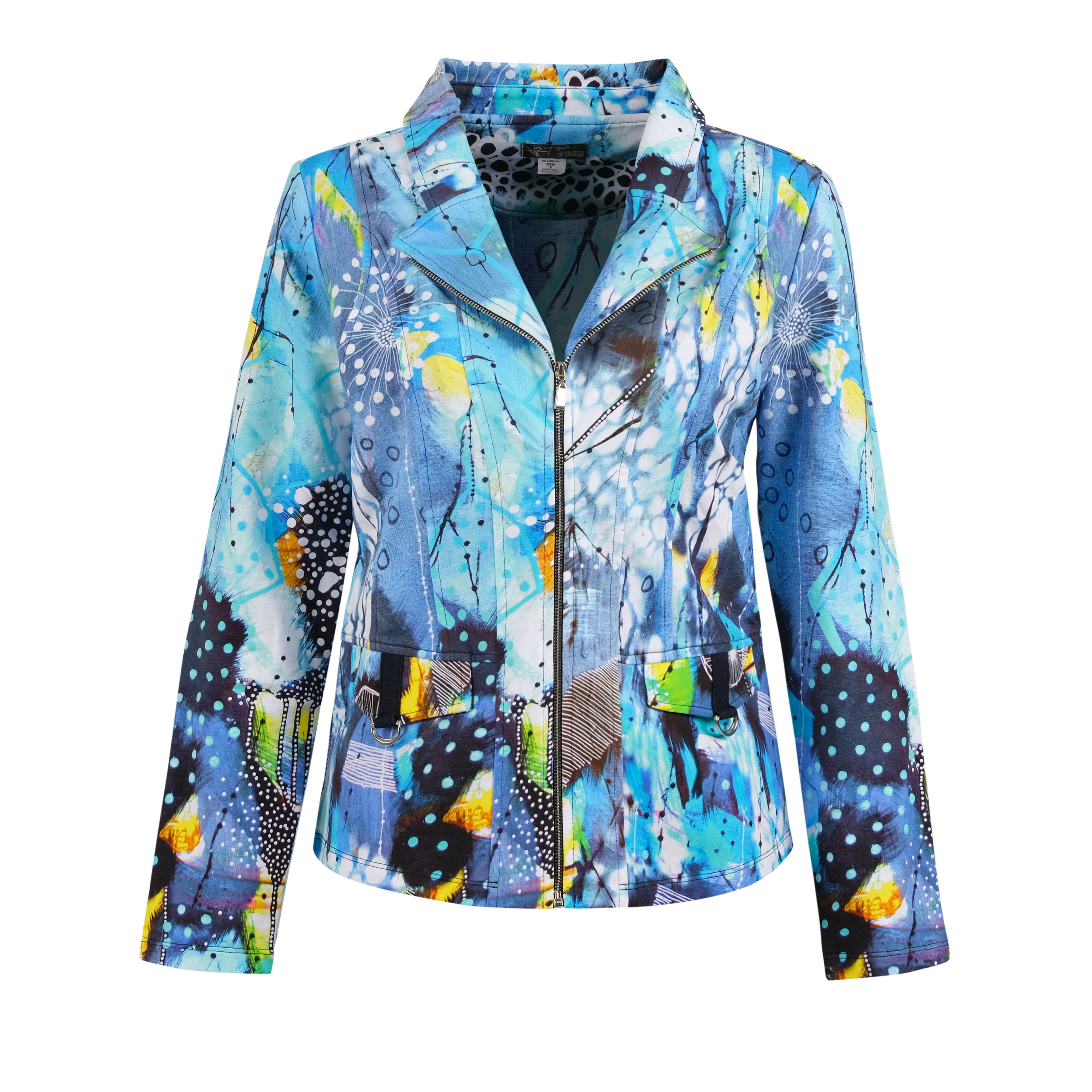 Simply Art Dolcezza: The Love of Blue Happiness Abstract Art Zip Jacket SOLD OUT