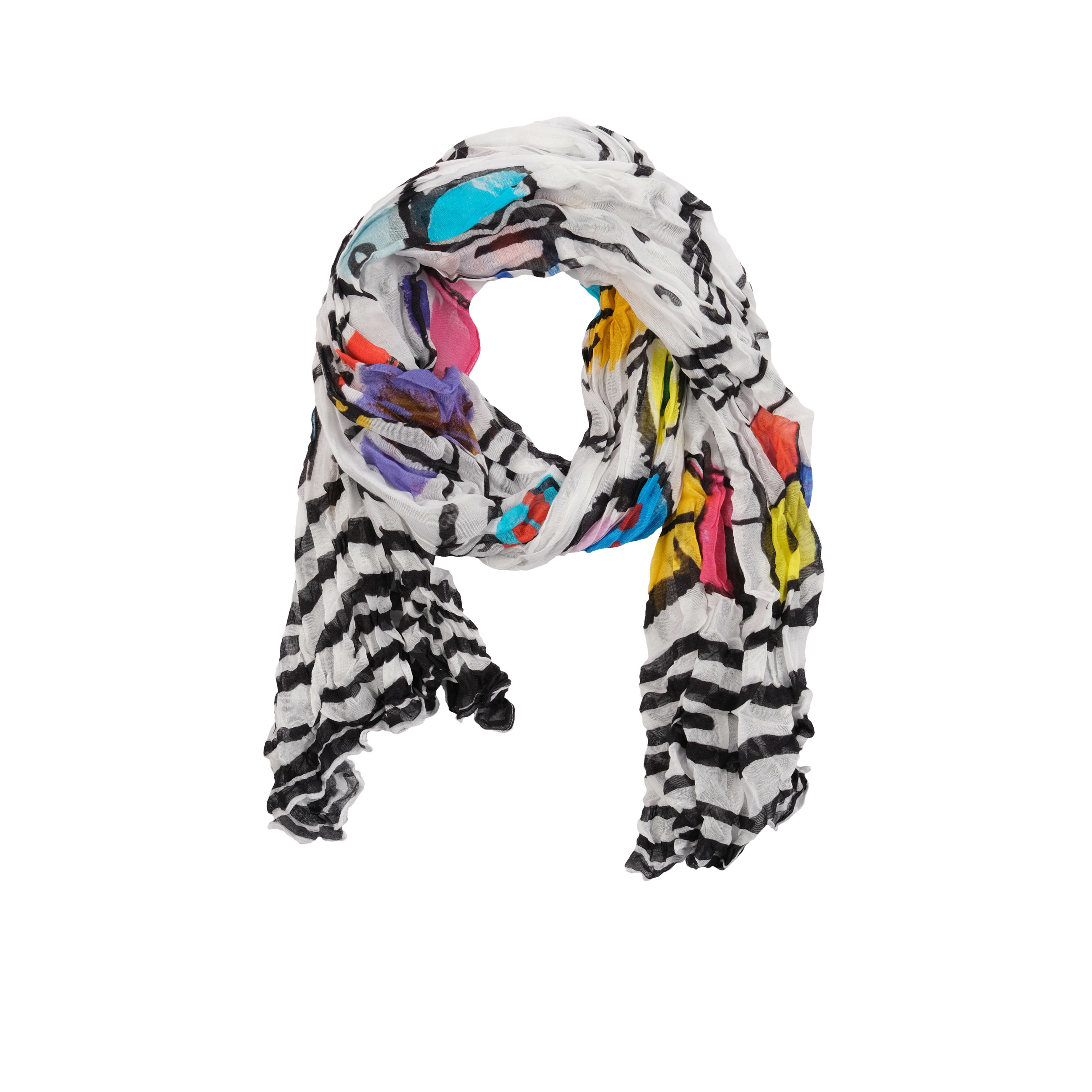 Simply Art Dolcezza: Medieval Ribbons Of Etagere & Miss Eze Abstract Art Scarf (1 Left!) DOLCEZZA_SIMPLYART_20909_N